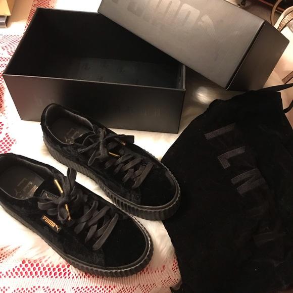 Puma X Fenty Rihanna Creeper Velvet Puma Black 8.5